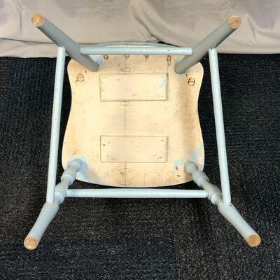Lot 6 - Solid Wood Blue Side Chair LOCAL PICK UP ONLY