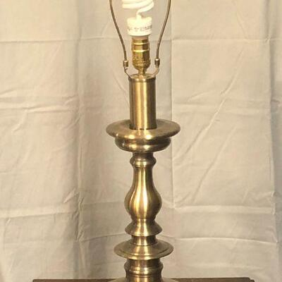 Lot 14 - Brass Table Lamp LOCAL PICK UP ONLY