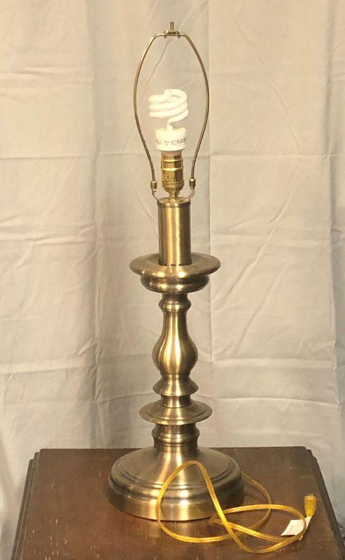 "This lamp is in very good condition and based on the wiring, it is more modern.  It is 31"" with the finial and has a three-way light lamp."