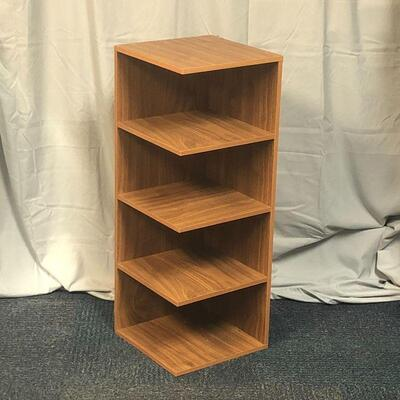 Lot 15 - Composite Wood Corner Shelf LOCAL PICK UP ONLY