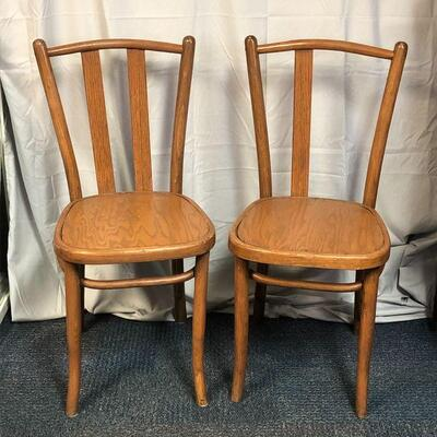 Lot 60 - 2 Solid Wood Side Chairs LOCAL PICKUP ONLY
