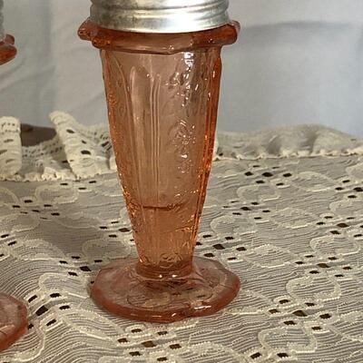Lot 68 - Cherry Blossom Pink Salt Pepper Shakers