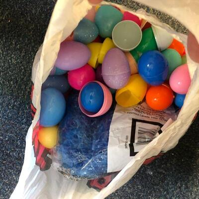 Lot 71 - Plastic Easter Eggs and Easter Grass