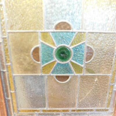 Solid Wood Framed Hand Crafted Stained Glass Wall Decor 20