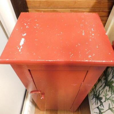 Solid Wood Primitive Storage Cabinet 12