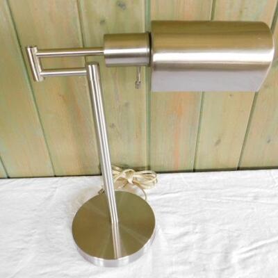 Brushed Nickel Finish Articulating Desk Lamp