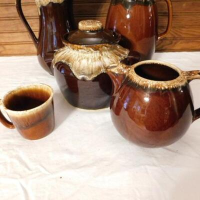 Nice Collection of Brown Drip Glaze Kitchen Pottery