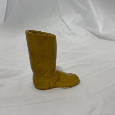 .6. VAN BRIGGLE | Pottery Boot | Signed