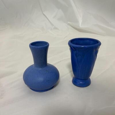 .11. ROSEMEADE | NILOAK | Two Blue Pottery Vases
