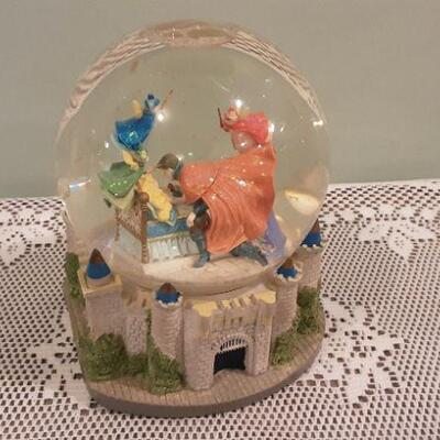 Sleeping Beauty Musical Snow Globe