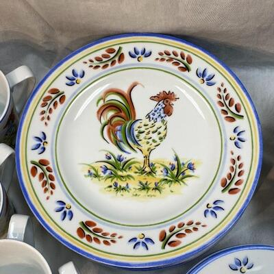 Provincial Rooster by 222 Fifth Porcelain Dish Set 28 pcs. YD#020-1220-04000