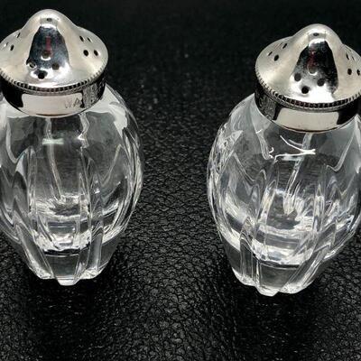 Vintage Waterford Crystal Palladia Salt & Pepper Shakers YD#020-1220-04002
