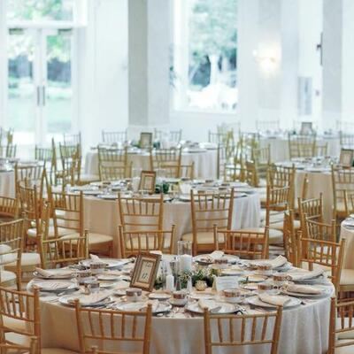 Linens, Banquet Tables & Chairs, Chargers, Umbrellas, Chaffers, Flatware