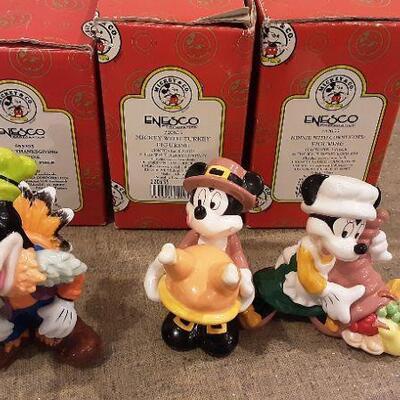 Enesco 3 Disney Figures