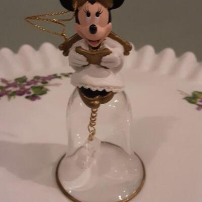 Lot 2 Glass Figurine Bells