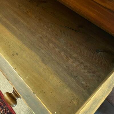 Mahogany Empire-Style footed Dresser