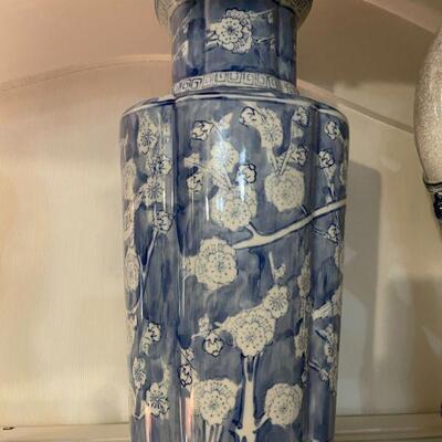Vintage Blue & White Vase