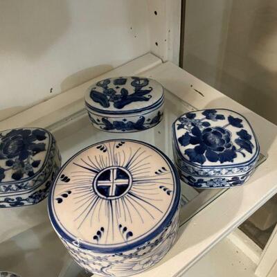Vintage Blue & White Boxes