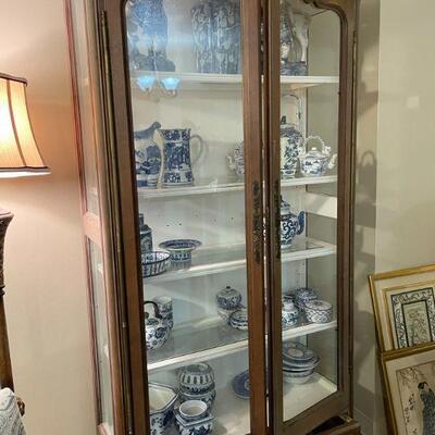 Vintage Wood Display Cabinet