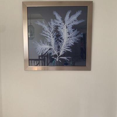 Z Gallerie Blue Background Images with Silver Frames