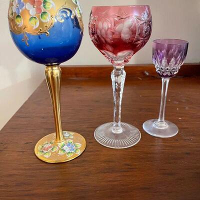 Vintage Anniversary Wine Glasses