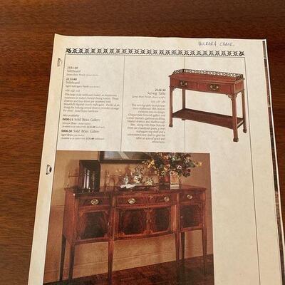 20th Century Hickory Mahogany Sideboard, Buffet, Hutch, Cardenza