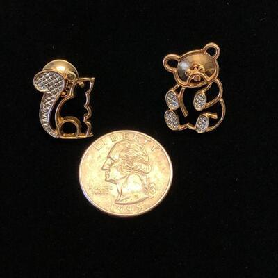 Lot 5 - Avon Bear Pin and Squirrel Pin