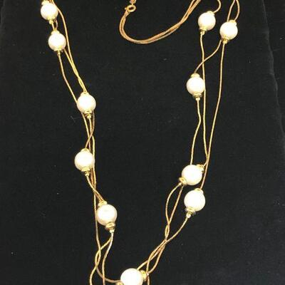 Lot 8 - Multi-Strand Necklace with Faux Pearls