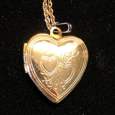 Lot 9 - Engraved Heart Locket on Chain