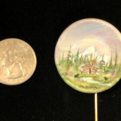Lot 19 - Hand Painted Alaska Stick Pin