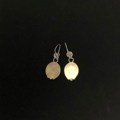 Lot 26 - Dangle Wire Silver Earrings