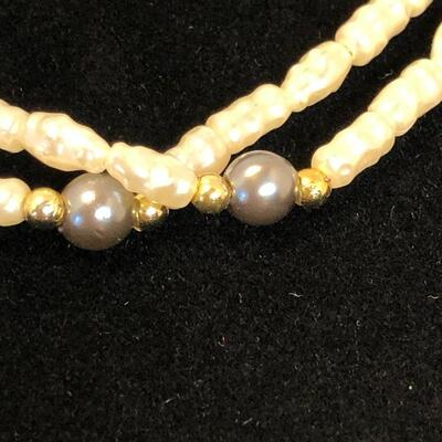 Lot 29 - Two Faux Pearl Seed Necklaces One is Avon