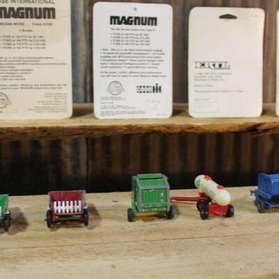 1/64 Scale Farm Toys, ERTL & Tootsie Toys. Diecast, 4 NIB - 5 Loose