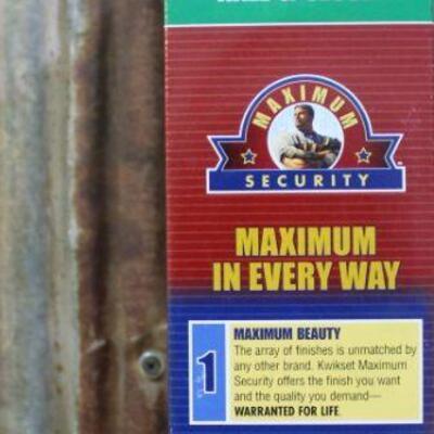Kwikset Maximum Security Tungsten Door Handle 92001 - Qty 5
