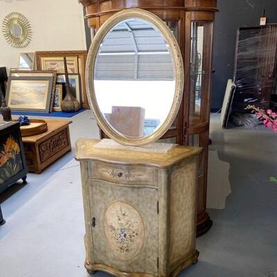 Entry Way Cabinet and Matching Mirror