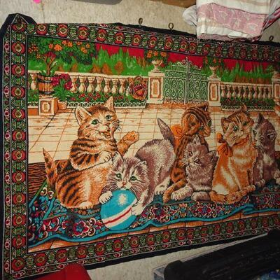 Playful Kitten Art Tapestry - 54