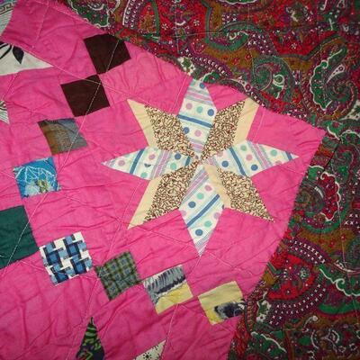 Gorgeous Hot Pink Handmade Quilt 86