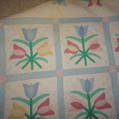 Handmade Tulip Quilt - Spring Time Colors 82