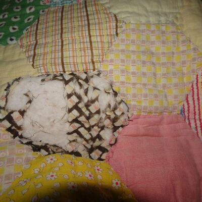 Handmade partial quilt - Great Mid Century Fabrics 81