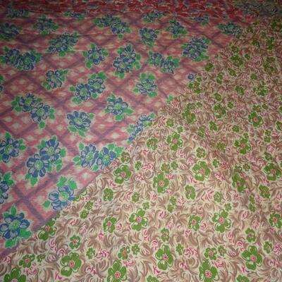 Large Triangle Handmade Quilt 62 1/2