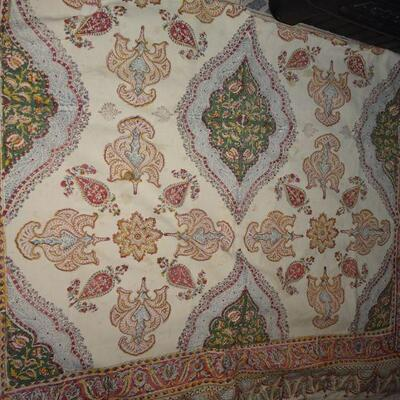 Vintage Cotton Bohemian Tapestry Blanket or Wall Decor 58