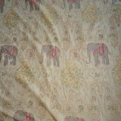 Lined Elephant Bohemian Curtains (2 panels) 55
