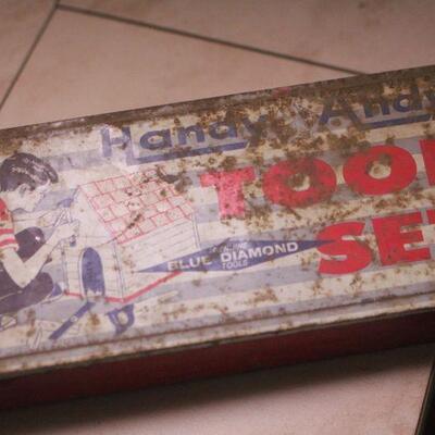 Lot 3 Vintage Handy Andy Tool Set Kids Case