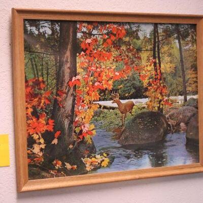 Lot 7 Vintage Framed Print of Deer/Stag
