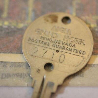 Lot 14 Vintage MGM Grand Hotel Reno Hotel Key & Souvenir