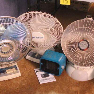 Lot 18 Fans & Heaters