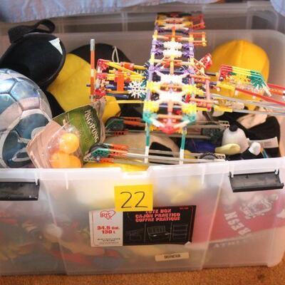 Lot 22 Children's Box - Toys, Soccer Ball, Sleeping Bag, More
