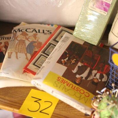 Lot 32 Sewing and Crafting Items