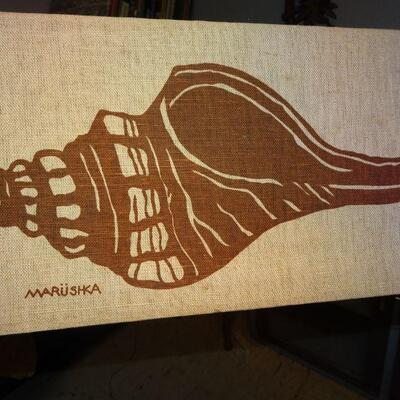 Maruska Linen Seashell Artwork