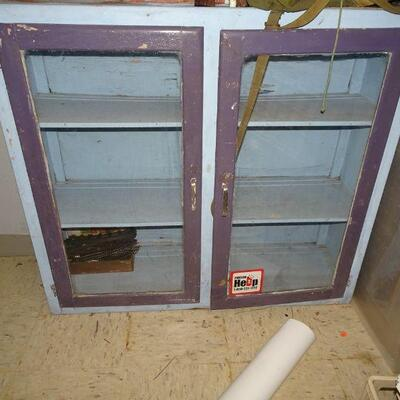 Vintage Country Cupboard - LOCAL PICK UP DURING LIVE SALE